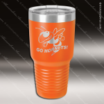 Engraved Stainless Steel 30 Oz. Ringneck Travel Mug Orange Etched Gift Personalized Orange Drinkware Engraved