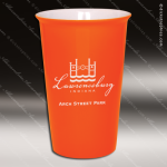 Engraved Ceramic 14 Oz. Latte Mug Orange Laser Etched Gift Personalized Orange Drinkware Engraved