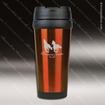 Engraved Stainless Steel 16 Oz. Travel Mug Orange Laser Etched Gift Personalized Orange Drinkware Engraved