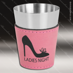 Leatherette Shot Glass -Pink Personalized Pink Drinkware Engraved
