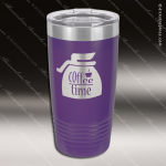 Engraved Stainless Steel 20 Oz. Ringneck Travel Mug Purple Etched Gift Personalized Purple Drinkware Engraved
