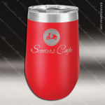 Double Wall Insulated Stemless Tumbler -Red Personalized Red Drinkware Engraved
