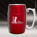 Engraved Stainless Steel Metal Barrel Mug Red Laser Etched Gift Personalized Red Drinkware Engraved