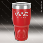 Engraved Stainless Steel 30 Oz. Ringneck Travel Mug Red Etched Gift Personalized Red Drinkware Engraved