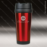 Engraved Stainless Steel 16 Oz. Travel Mug Red Laser Etched Gift Personalized Red Drinkware Engraved