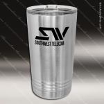 Double Wall Insulated Pint with Clear Slider Lid -Stainless Steel Personalized Stainless Steal Drinkware Engraved