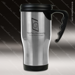 Engraved Stainless Steel 14 Oz. Travel Coffee Mug Silver Laser Etched Gift Personalized Stainless Steal Drinkware Engraved