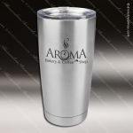 Engraved Stainless Steel 20 Oz. Tumbler Silver Laser Etched Gift Personalized Stainless Steal Drinkware Engraved