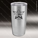 Engraved Stainless Steel 20 Oz. Ringneck Travel Mug Silver Etched Gift Personalized Stainless Steal Drinkware Engraved