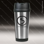 Engraved Stainless Steel 16 Oz. Travel Mug Silver Laser Etched Gift Personalized Stainless Steal Drinkware Engraved
