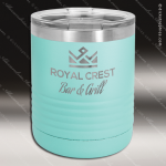 Ringneck Double Wall Insulated Tumbler -Teal Personalized Teal Drinkware Engraved