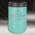 Double Wall Insulated Beverage Holder -Teal Personalized Teal Drinkware Engraved
