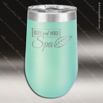Double Wall Insulated Stemless Tumbler -Teal Personalized Teal Drinkware Engraved