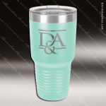 Engraved Stainless Steel 30 Oz. Ringneck Travel Mug Teal Etched Gift Personalized Teal Drinkware Engraved