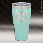 Engraved Stainless Steel 30 Oz. Mug Polar Tumbler Teal Laser Etched Gift Personalized Teal Drinkware Engraved