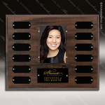 The Jahoda Laminated Cherry Perpetual Plaque  12 Black Plates Photo Photo Holder Perpetual Plaques