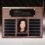 The Morvay Laminate Walnut Perpetual Plaque  13 Black Plates Photo Photo Holder Perpetual Plaques