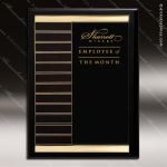 The Rabago Black Piano Finish Perpetual Plaque  12 Black Plates Photo Holder Perpetual Plaques