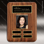 The Tefollla Walnut Perpetual Plaque   4 Black Plates Photo Photo Holder Perpetual Plaques