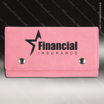Embossed Etched Leather Card and Dice Set -Pink Pink Leather Items