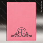 Embossed Etched Leather Passport Holder Pink Gift Pink Leather Items