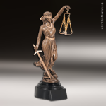Premium Resin Bronze Professional Service Lady Justice Trophy Award Premium Bronze Resin Trophies
