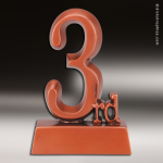 Premium Resin Bronze 3rd Place Trophy Award Premium Bronze Resin Trophies