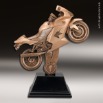 Premium Resin Bronze Motor Sports Motorcycle Street Bike Trophy Award Premium Bronze Resin Trophies
