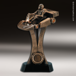 Premium Resin Bronze Motor Sports Go Kart Trophy Award Premium Bronze Resin Trophies