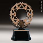 Premium Resin Bronze Motor Sports Sprocket Trophy Award Premium Bronze Resin Trophies
