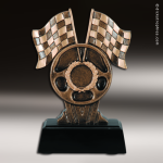 Premium Resin Bronze Motor Sports Racing Theme Trophy Award Premium Bronze Resin Trophies