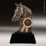 Premium Resin Bronze Equestrian Sculpture Horse Theme Trophy Award Premium Bronze Resin Trophies