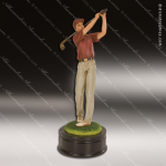 Premium Resin Hand Painted Color Golf Trophy Award - Male Premium Champion Golf Trophies