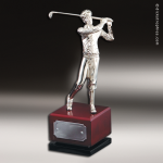 Golfer  On Wood Base Premium Champion Golf Trophies