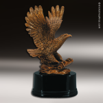 Premium Resin Gold American Eagle with Scroll Trophy Award Premium Gold Resin Trophies