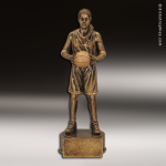Premium Resin Gold Sports Champion Basketball Female Trophy Award Premium Gold Resin Trophies