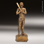 Premium Resin Gold Sports Champion Baseball Male Trophy Award Premium Gold Resin Trophies