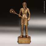 Premium Resin Gold Sports Champion Lacrosse Female Trophy Award Premium Gold Resin Trophies