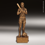 Premium Resin Gold Sports Champion Softball Female Trophy Award Premium Gold Resin Trophies