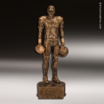 Premium Resin Gold Sports Champion Football Male Trophy Award Premium Gold Resin Trophies