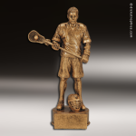Premium Resin Gold Sports Champion Lacrosse Male Trophy Award Premium Gold Resin Trophies