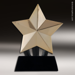 Premium Resin Gold Shooting Star Trophy Award Premium Gold Resin Trophies