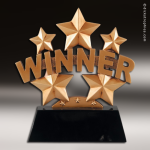 Premium Resin Gold Stars and Winner Trophy Award Premium Gold Resin Trophies