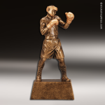 Premium Resin Gold Boxing Male Trophy Award Premium Gold Resin Trophies