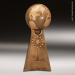 Premium Resin Gold Globe Ball Victory Pedestal Trophy Award Premium Gold Resin Trophies