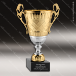 Cup Trophy Premium Gold Series Silver Accented Loving Cup Award Premium Gold Series Cup Trophy Awards