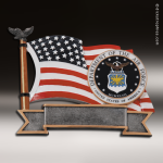 Premium Resin American Service Plate Series Air Force Trophy Award Premium Silver Resin Trophies
