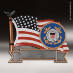 Premium Resin American Service Plate Series Coast Guard Trophy Award Premium Silver Resin Trophies