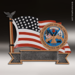 Premium Resin American Service Plate Series Army Trophy Award Premium Silver Resin Trophies