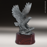 Premium Resin Silver American Eagle with Scroll Trophy Award Premium Silver Resin Trophies